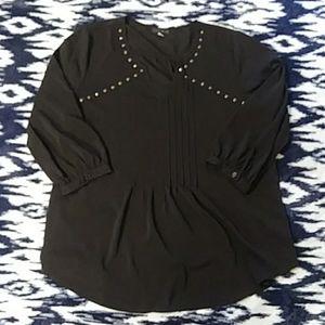 Black Studded Quarter Sleeve